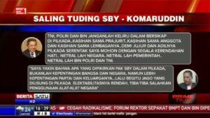Bung Komarudin Watubun menjawab Tudingan SBY mengenai Netralitas Aparatur Negara dalam Pilkada