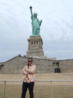 Tiba di New York, BK Kunjungi Patung Liberty