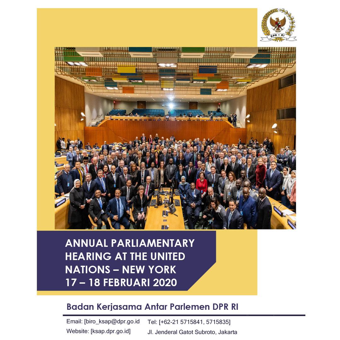 Laporan Delegasi BKSAP ke Annual Parliamentary UN Hearing 2020